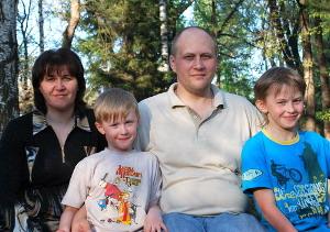 Алексей Горбунов с семьей