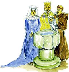 Крещение святого младенца Румвольда