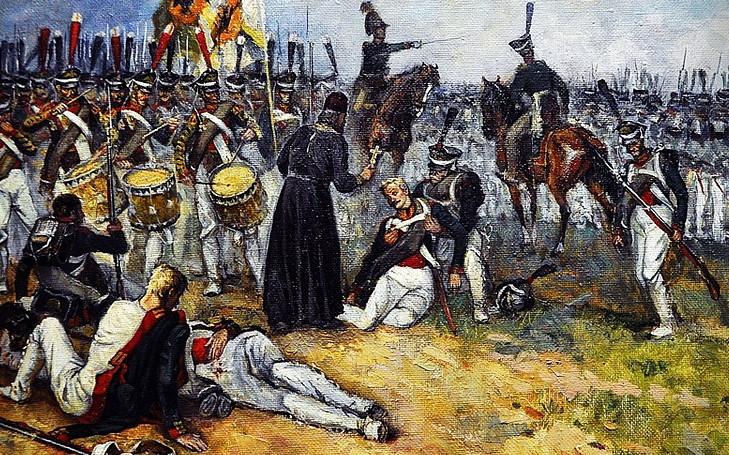 Полковой священник на поле боя