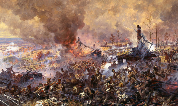 А.Аверьянов. Сражение за Малоярославец 12 (24) октября 1812 года.