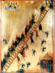Лествица Иоанна. Икона XI в. Синай