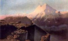 Кавказский вид с Эльбрусом, М. Ю. Лермонтов