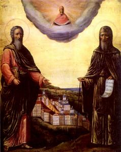 Апостол Андрей Первозванный и преподобный Антоний Печерский