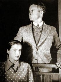 Александр Довженко с женой