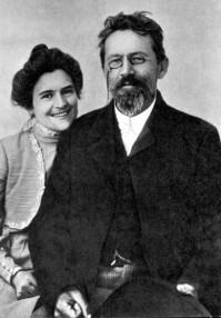 Антон Павлович Чехов с женой
