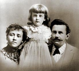 Билл Портер с дочерью и женой