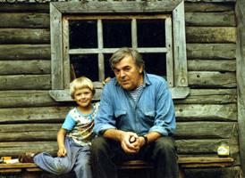 Юрий Коваль с сыном Алешей