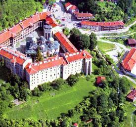 Рильский монастырь с высоты птичьего полета