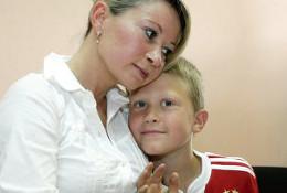 Россиянка Инга Рентала со своим сыном Робертом