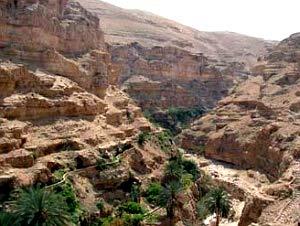 Вид на пустыню с монастыря св.Георгия Хозевита