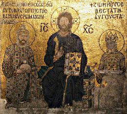 Христос между Константином IX Мономахом и императрицей Зоей