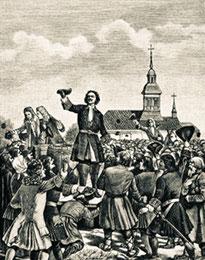 Петр Великий объявляет народу о заключении Ништадтского мира