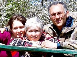 Андрей, Валентина и Евгения Похожай