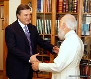 Віктор Янукович і Митрополит Володимир
