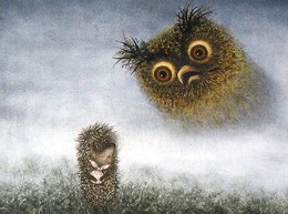 Кадр из мультфильма «Ёжик в тумане»