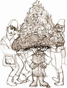 Большая чёрная шапка маленького человека
