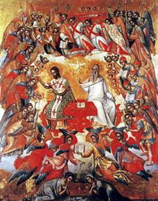 Михаил Дамаскин. Небесная литургия (XVI век)
