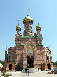 Храм в нижней части которого почивают мощи блаженной Алипии