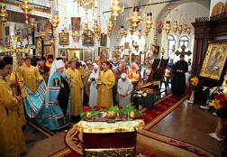 Литургия в день памятия святителя Михаила в Михайловском храме при Александровской больнице