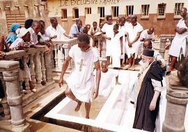 Крещение сьерра-леонцев