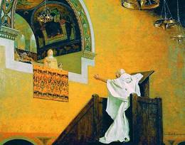 Свт. Иоанн Златоуст перед имп. Евдоксией
