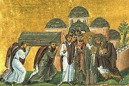 Перенесение мощей Иоанна Златоуста в Константинополь в храм святых Апостолов