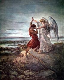 Гюстав Доре. Иаков борется с ангелом
