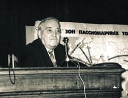 Л. Н. Гумилев. Доклад в Географическом обществе. Конец 1970-х гг.