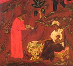 Саломея. Псковская икона 17 века.