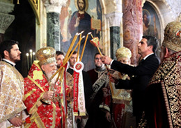 Святейший Патриарх Болгарский Максим и президент Болгарии Р. Плевнелиев