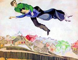 «Над городом». Марк Шагал
