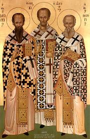 Василий Великий, Григорий Богослов, Иоанн Златоуст