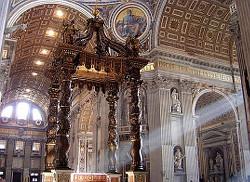 В храме апостола Петра в Ватикане