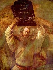 Рембрандт. Моисей со скрижалями