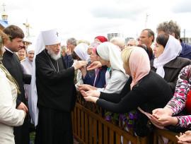 Блаженніший Митрополит Володимир біля ікони св. князя Володимира