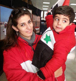 Вала Юсеф с ребёнком