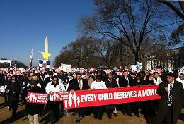 Демонстрация против однополых браков