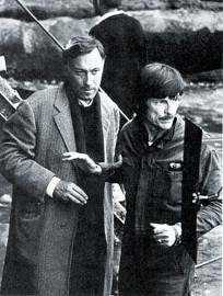 Янковский и Тарковский во время съемок Ностальгии
