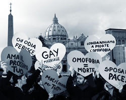 Активисты гей-движения на площади Святого Петра