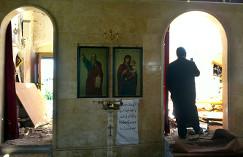 Разрушенный христианский храм в Сирии