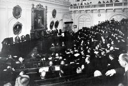 Заседание вновь избранных членов Городской думы. 1913
