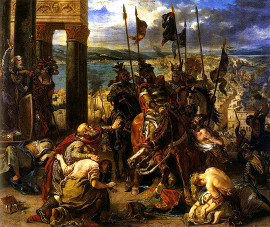 Взятие Константинополя крестоносцами. Эжен Делакруа, 1840 г.