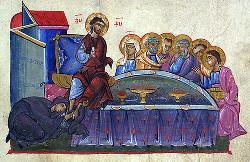 Блудница омывает ноги Спасителя