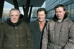 Писатели Виктор Астафьев, Марк Сергеев и Валентин Распутин. 1987 год.
