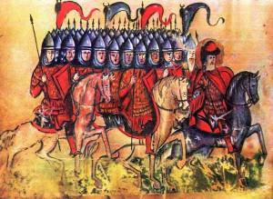 Войско Бориса в походе