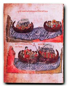 Убийцы поджидают князя Глеба; убиение князя Глеба