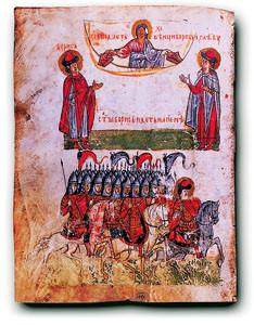 Небесное заступление святых князей Бориса и Глеба в битве русского войска с печенегами