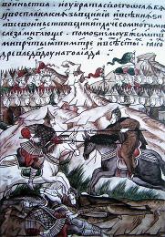 Поединок преподобномученика Александра Пересвета с татарским богатырём