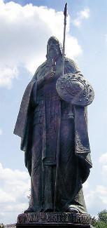 Памятник преподобномученику Александру Пересвету. г. Брянск