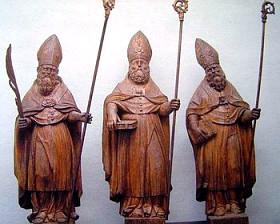 Три святителя: Николай Чудотворец, Феодор, Николай-дядя